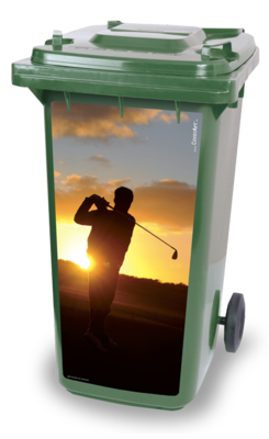 Golf Container sticker Sunrise
